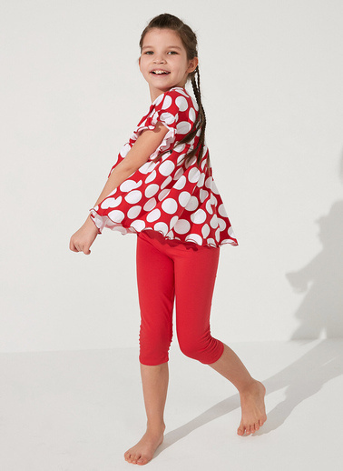 Penti Kırmızı Kız Çocuk Point Ss 2Li Pijama Takımı Kırmızı